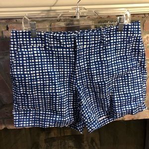 Tommy Hilfiger funky blue plaid shorts